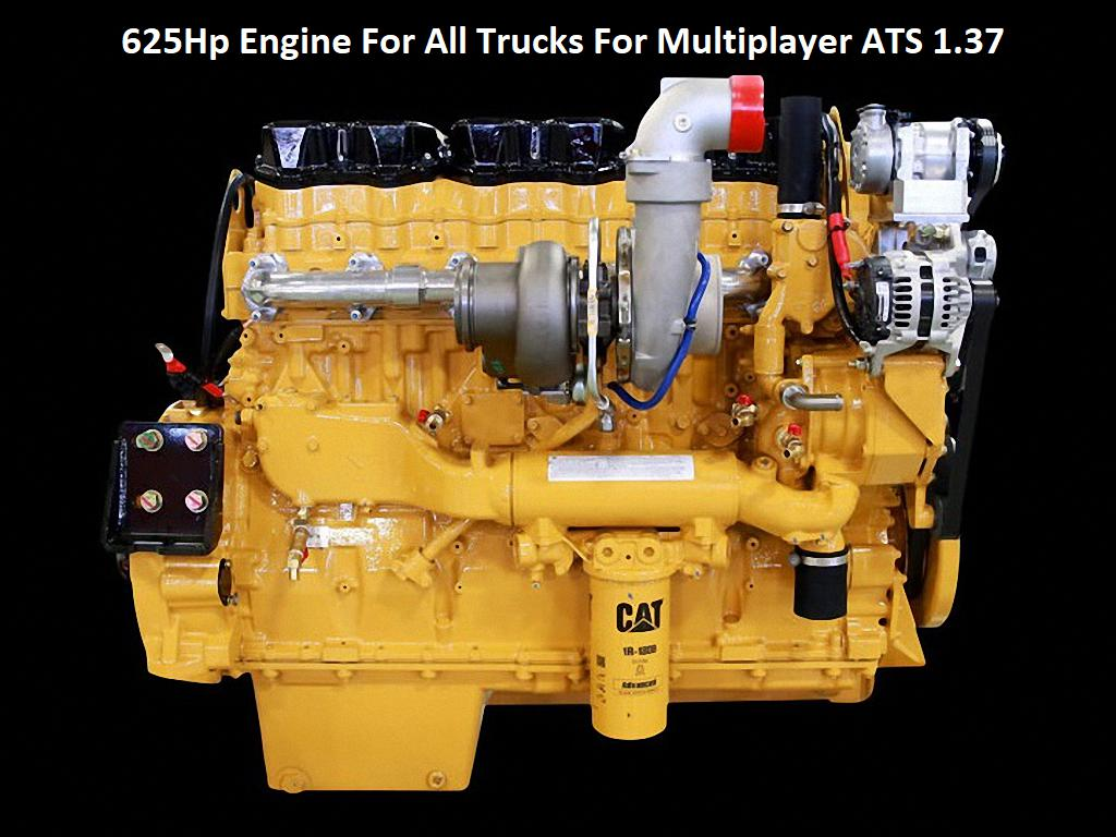 625hp engine for all trucks for multiplayer ats 1.37 ats 1