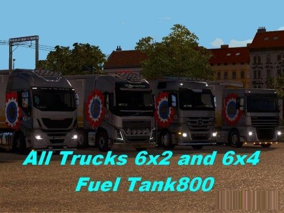 all trucks 6t2 2C 6t4 fuel tank 800 by enri ets2 1 1