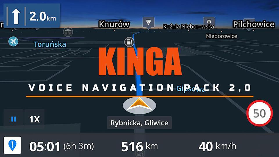 kinga voice navigation pack v2.0 ets2 1